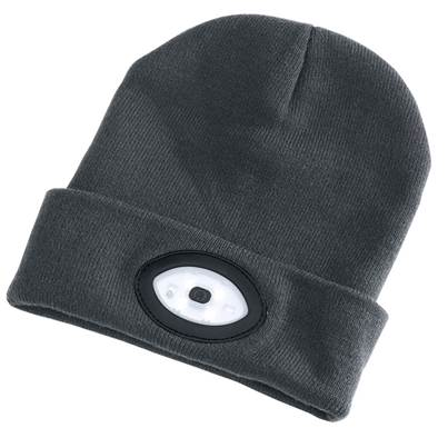 Draper Beanie with Rechargeable Built-in LED Headtorch (Grey)