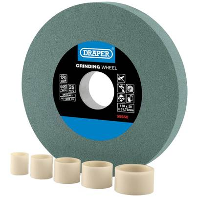 Draper Silicon Carbide Bench Grinding Wheel 120G (150mm x 20mm)