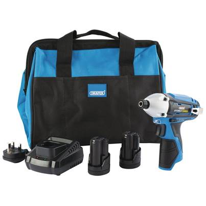 Draper Storm Force® 10.8V Power Interchange Impact Driver Kit (+2x 1.5Ah Batteries, Charger and Bag)