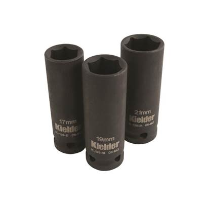 "Kielder ""KWT-126-01 1/2in Drive Deep Impact Socket Set, 3 Piece"""