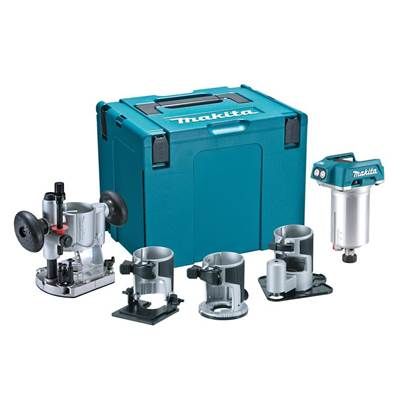 Makita DRT50ZJX3 Router/Trimmer Body + 4 Bases 18V Bare Unit