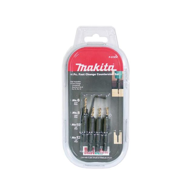 Makita P-51954 Countersink Bit Set 4 Piece