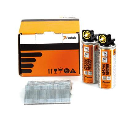 Paslode Nail Fuel Pack IM65 Straight Brads Galvanised