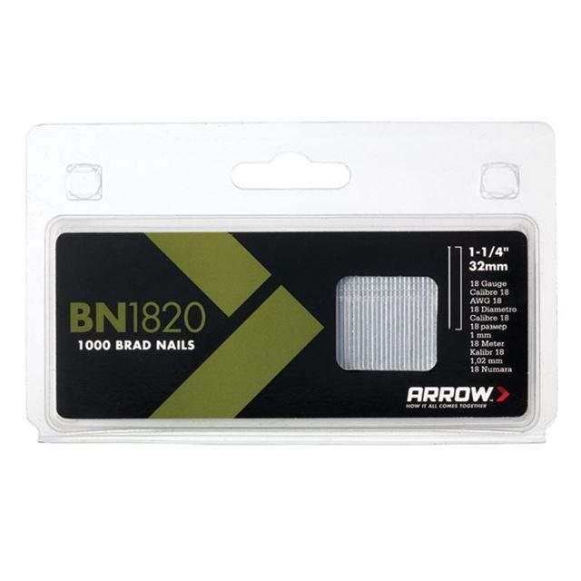 Arrow BN1820 Brad Nails 32mm 18g Pack 1000