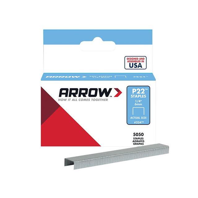 Arrow P22 Staples 6mm (1/4in) Box 5050