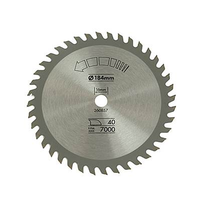 Black & Decker Circular Saw Blade 184 x 16mm x 40T Fine Cross Cut