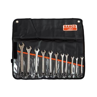 Bahco Chrome Polished Combination Spanner Set, 11 Piece
