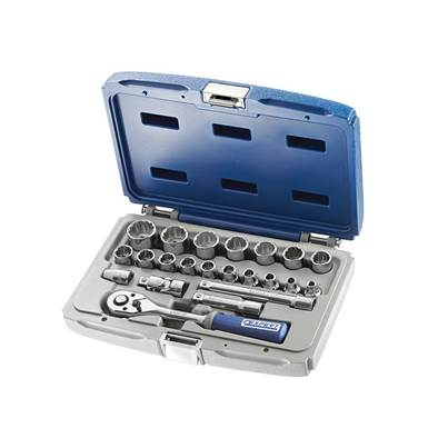 Expert Socket & Accessory Set of 22 Metric 3/8in Drive
