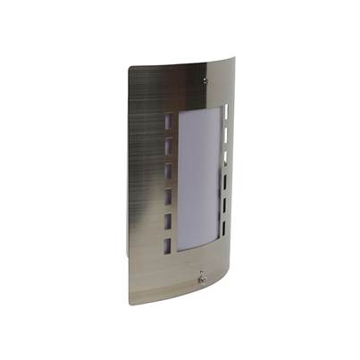 Byron Stainless Steel Outdoor Wall Light With Day/Night Sensor