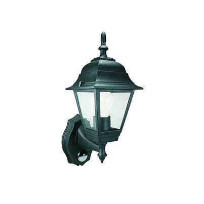 Byron ES94 4-Panel Coach Lantern with PIR Black