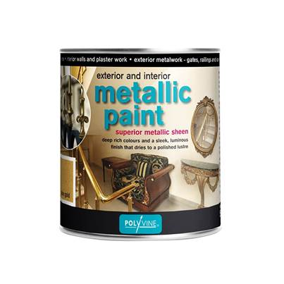 Polyvine Exterior & Interior Metallic Paint