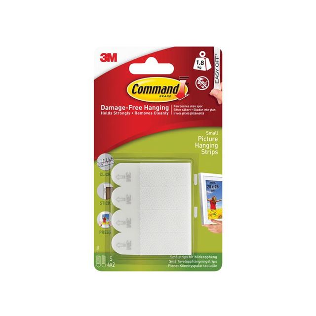 Command™ Picture Hanging Strips, Small (Pack 4)