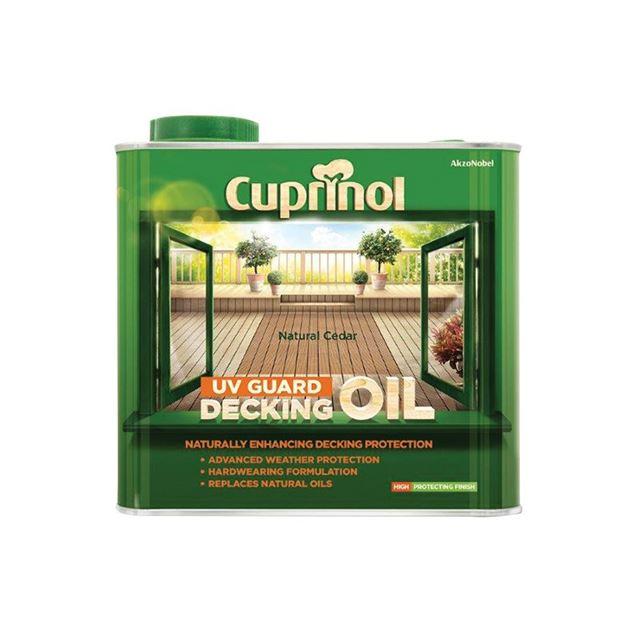 Cuprinol UV Guard Decking Oil Natural Cedar 2.5 litre
