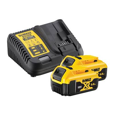 DEWALT DCB184B2C XR Charger & Battery Set 18V 2 x 5.0Ah Li-ion