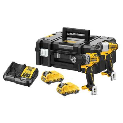 DEWALT DCK2110L2 XR Brushless Sub-Compact Twin Pack 12V 2 x 3.0Ah Li-ion