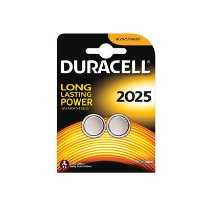 Duracell CR2025 Coin Lithium Battery (Pack 2)