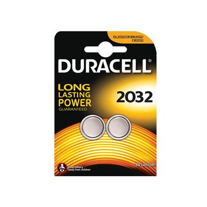 Duracell CR2032 Coin Lithium Battery (Pack 2)
