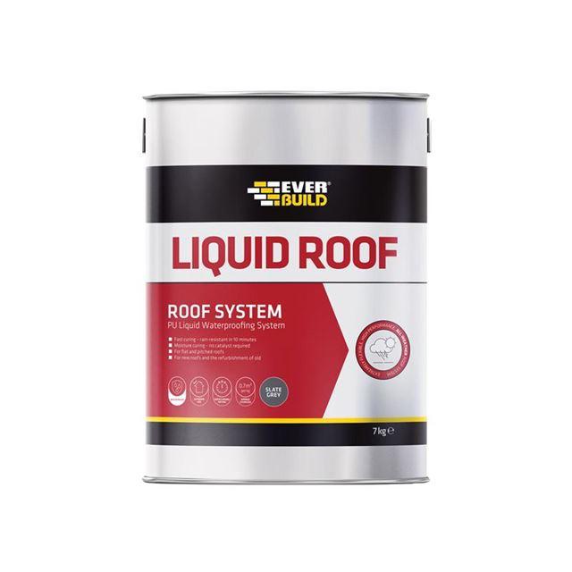 Everbuild Aquaseal Liquid Roof Slate Grey 7kg