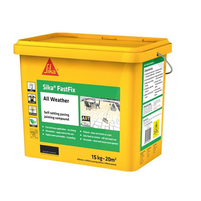 Image of Everbuild Sika® FastFix All Weather Charcoal 15kg