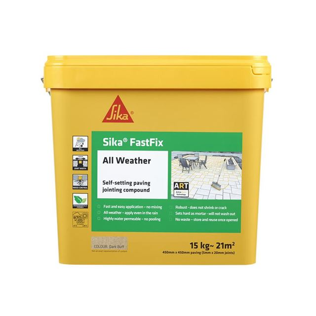 Image of Everbuild Sika® FastFix All Weather Dark Buff 15kg