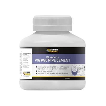 Everbuild P16 Plumber's PVC Pipe Cement 250ml