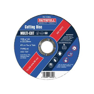 Faithfull Multi-Purpose Cutting Discs, Pack of 10