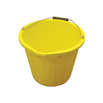 Faithfull Bucket 3 gallon (14L) - Yellow