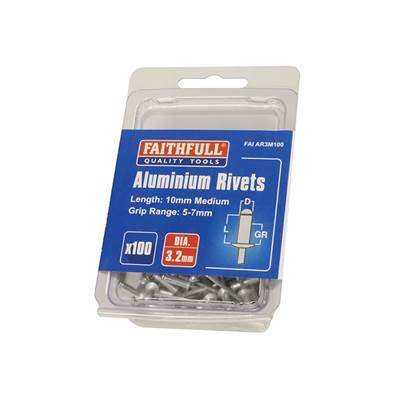 Faithfull Aluminium Rivets