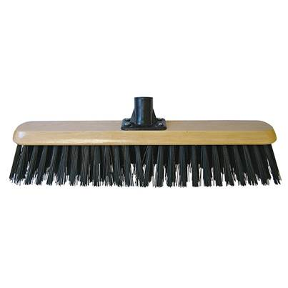 Faithfull Black PVC Platform Broom Head 450mm (18in) Threaded Socket