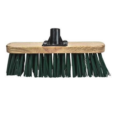 Faithfull Stiff Green Broom Head 300mm (12in) Threaded Socket