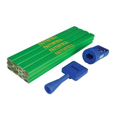 Carpenter's Pencil Kit Green / Hard (Pack 12)