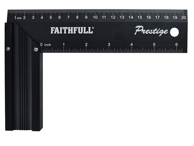 Faithfull Prestige Try Square Black Aluminium