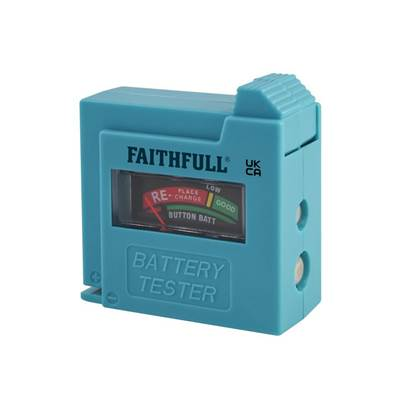 Faithfull Battery Tester for AA, AAA, C, D & 9V