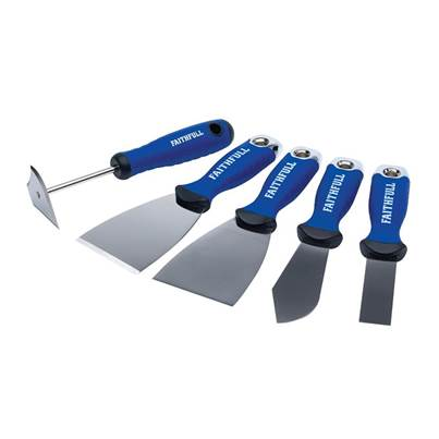 Faithfull Soft Grip Decorating Tool Kit, 5 Piece