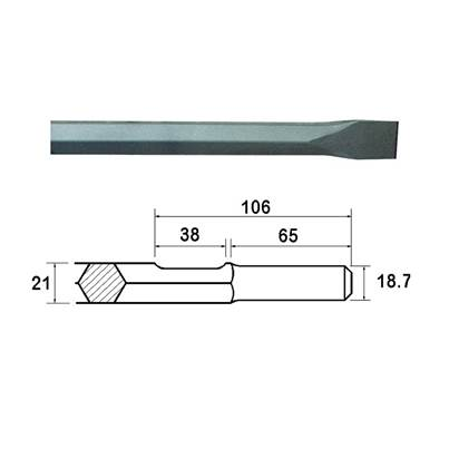 Faithfull Kango Shank Chisel 25 x 450mm (914119)