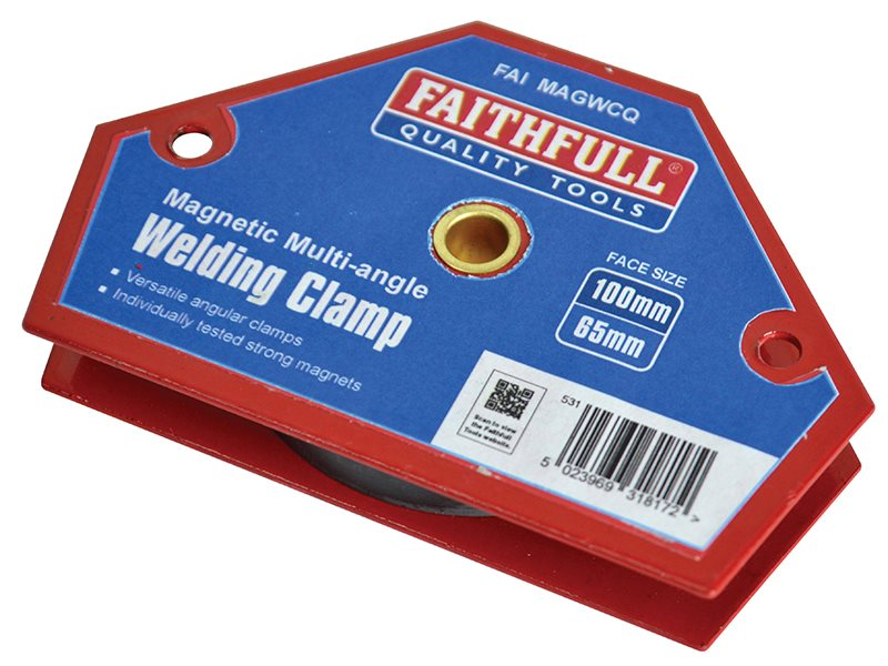 Faithfull Welding Magnet Quick Clamp 100 x 65mm