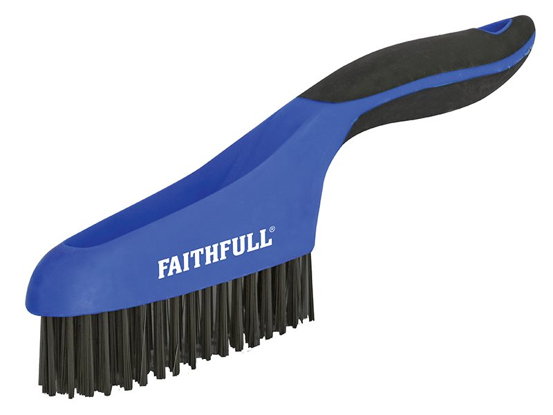 Faithfull Soft Grip Scratch Brush