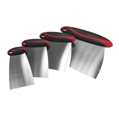 Faithfull Stainless Steel Filler & Spreader Set, 4 Piece