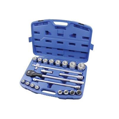 Faithfull Socket Set of 21 Metric 3/4in Drive