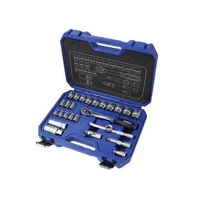 Faithfull Socket Set of 26 Metric 3/8in Drive