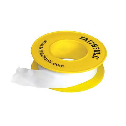 Faithfull P.T.F.E Gas Tape 12mm x 5m White (Pack 10)