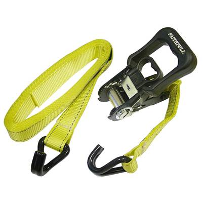Faithfull Ratchet Tie-Downs J-Hook 5m x 32mm Breaking Strain 1320kg/daN 2 Piece