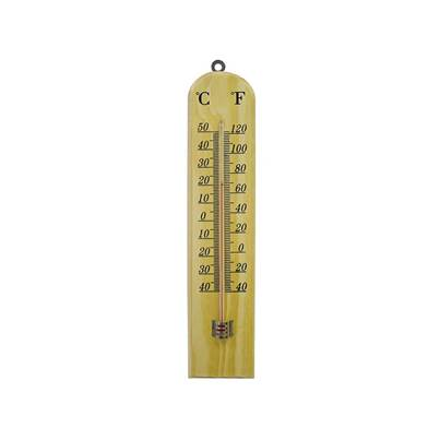 Faithfull Wooden Wall Thermometer