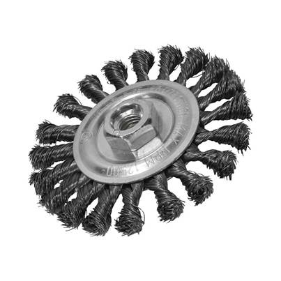 Faithfull Circular Wire Brush 115 x 12mm M14x2 Bore 0.35mm Wire