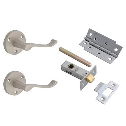 Forge Door Pack - Scroll Lever On Rose Satin Chrome Finish
