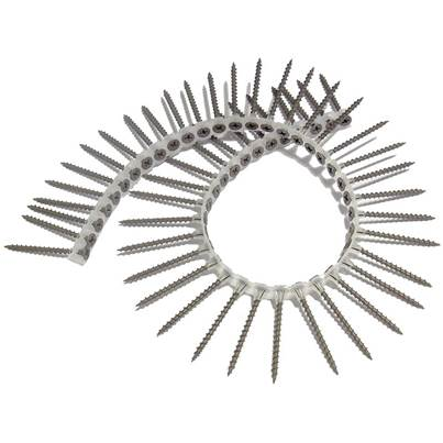 ForgeFix Collated Drywall Screws, Phillips, Bugle Head