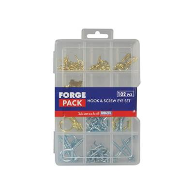 ForgeFix Hook & Screw Eye Kit ForgePack 102 Pieces