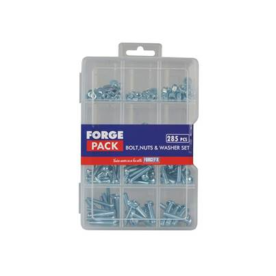 ForgeFix Hexagon Bolt Nut & Washer Kit ForgePack 285 Piece