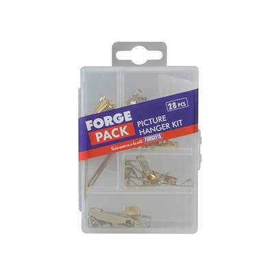 ForgeFix Picture Hook Kit Forge Pack, 28 Piece