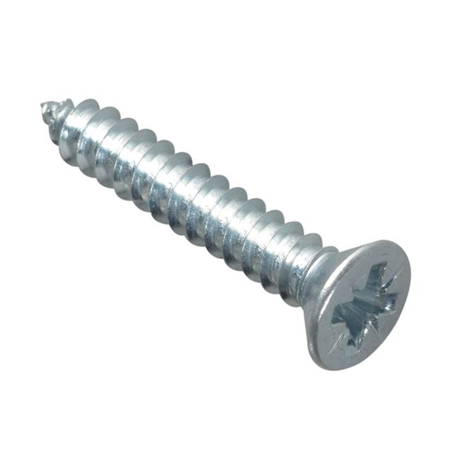 ForgeFix Self-Tapping Screw Pozi Compatible CSK ZP 1in x 8 ForgePack 20